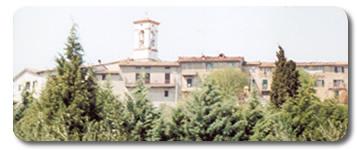 Scorcio di Villa Pitignano dall'alto