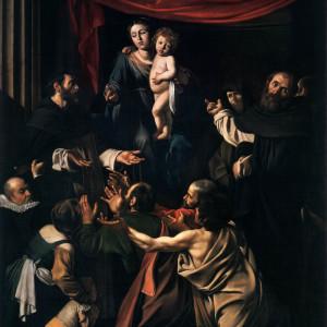 madonna del rosario caravaggio (particolare)