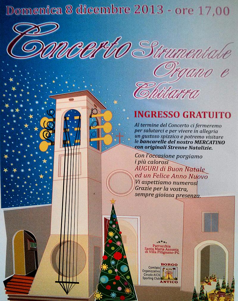 Concerto d'organo e chitarra e mercatino dell'8 dicembre