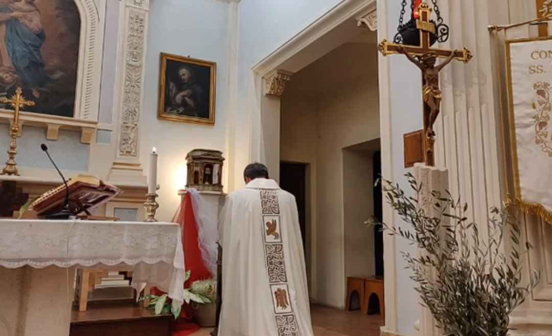 Registrazione della S.Messa in Coena Domini a Villa Pitignano del 9 aprile 2020